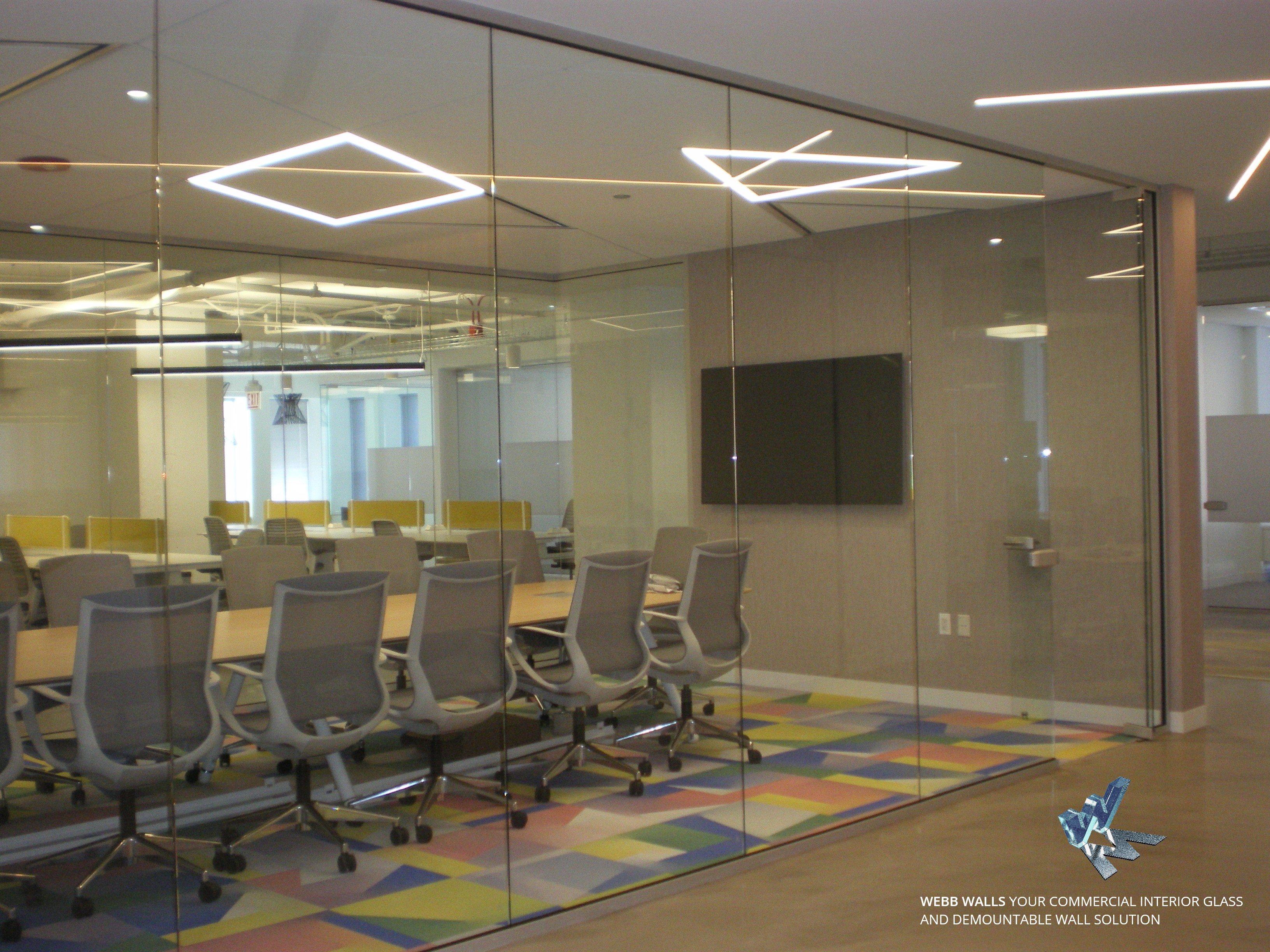 Webb walls your commercial glass and demountable walls solutions. Skyler Glass